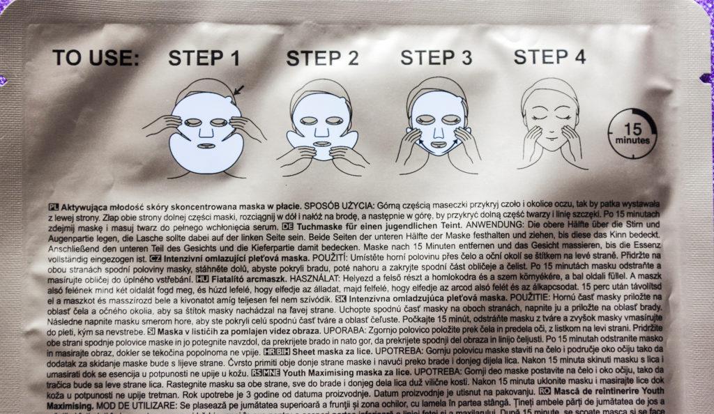 Sposob ispol'zovanija tkanevoj maski AVON ANEW Essential